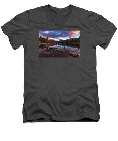 Mary's Reflection Men's V-Neck T-Shirt by Tassanee Angiolillo