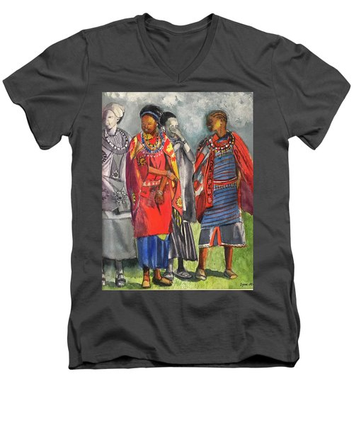 Masai Women Men's V-Neck T-Shirt
