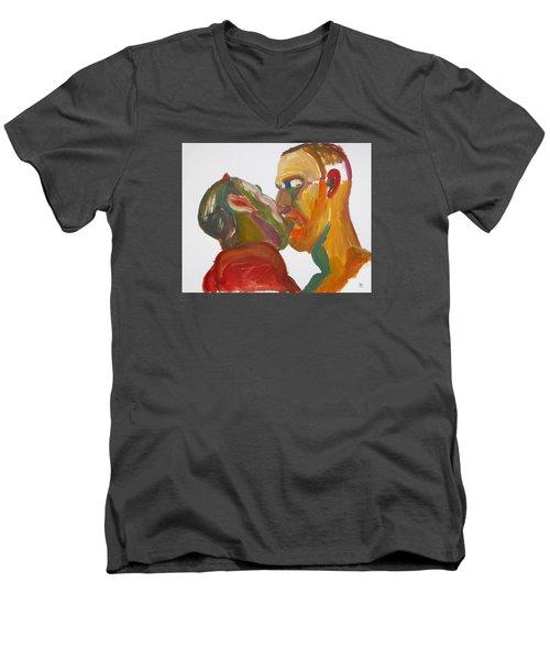 Masculine Kiss Men's V-Neck T-Shirt