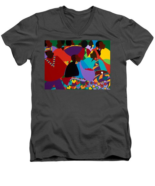 Masekelas Marketplace Congo Men's V-Neck T-Shirt