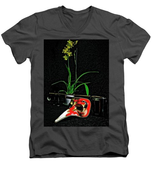Mask For Pinnochio Men's V-Neck T-Shirt