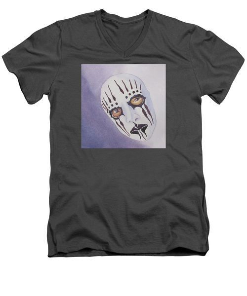 Men's V-Neck T-Shirt featuring the painting Mask I by Teresa Beyer