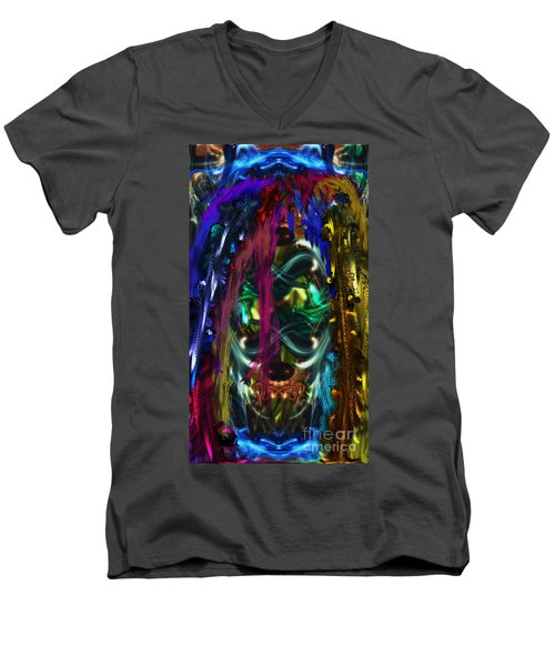 Mask Of The Spirit Guide Men's V-Neck T-Shirt