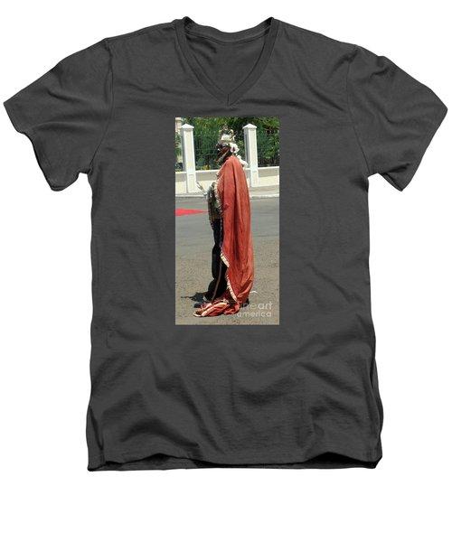Masquerader Of Sao Tome Men's V-Neck T-Shirt by John Potts