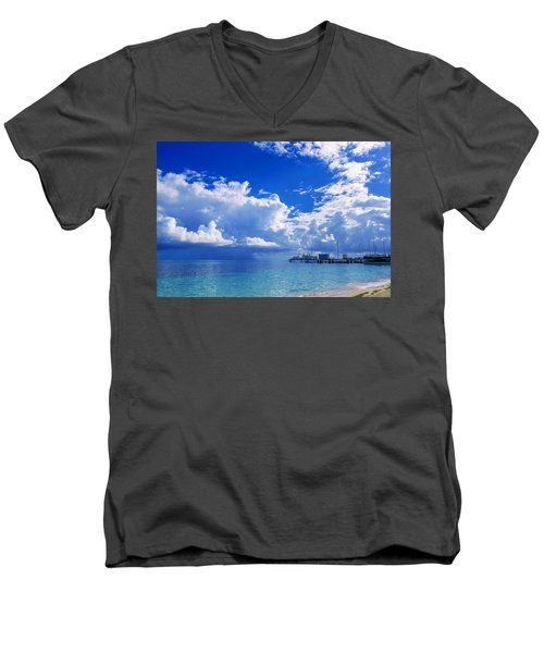 Massive Caribbean Clouds Men's V-Neck T-Shirt