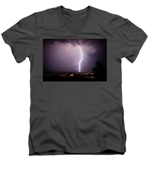 Massive Lightning Storm Men's V-Neck T-Shirt