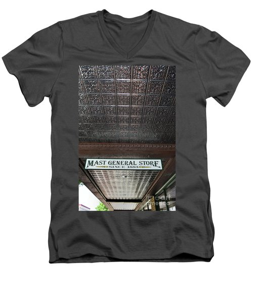 Men's V-Neck T-Shirt featuring the photograph Mast General Store II by Skip Willits