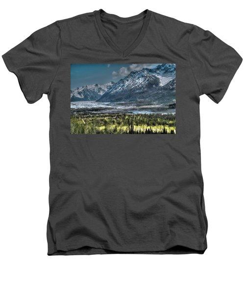 Matanuska Glacier, Alaska Men's V-Neck T-Shirt