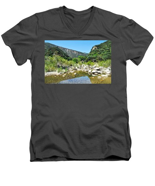 Men's V-Neck T-Shirt featuring the photograph Matilija Hot Springs by Kyle Hanson