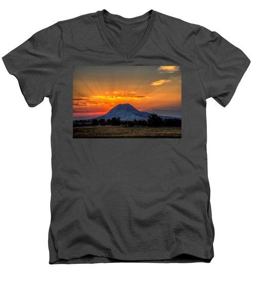 Mato Paha, The Sacred Mountain Men's V-Neck T-Shirt