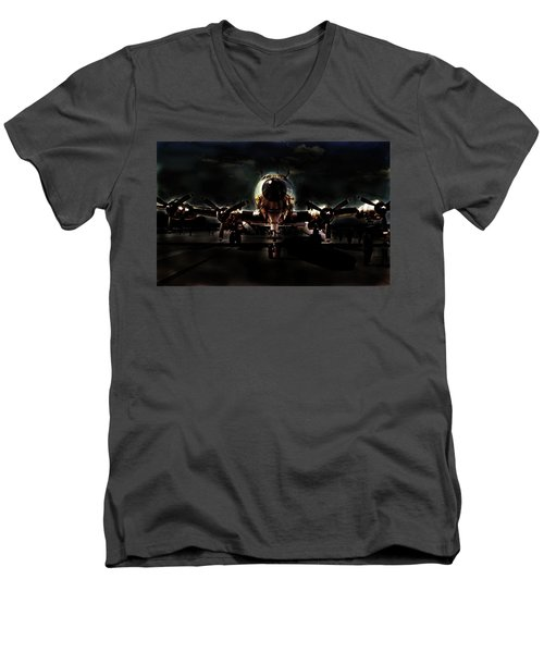Men's V-Neck T-Shirt featuring the photograph Mats Constellation by John Schneider