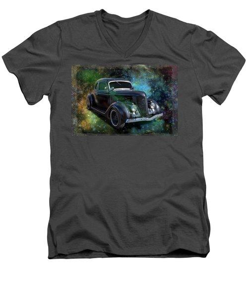 Matt Black Coupe Men's V-Neck T-Shirt