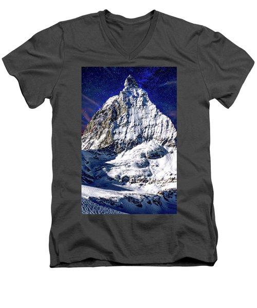 Matterhorn At Twilight Men's V-Neck T-Shirt