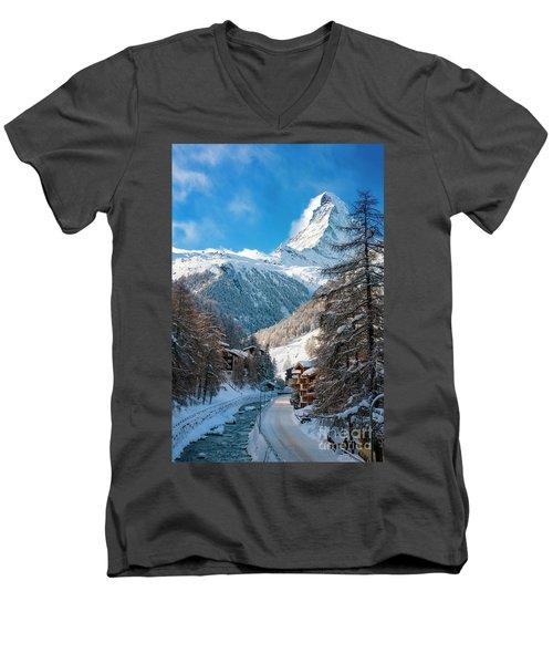 Matterhorn  Men's V-Neck T-Shirt