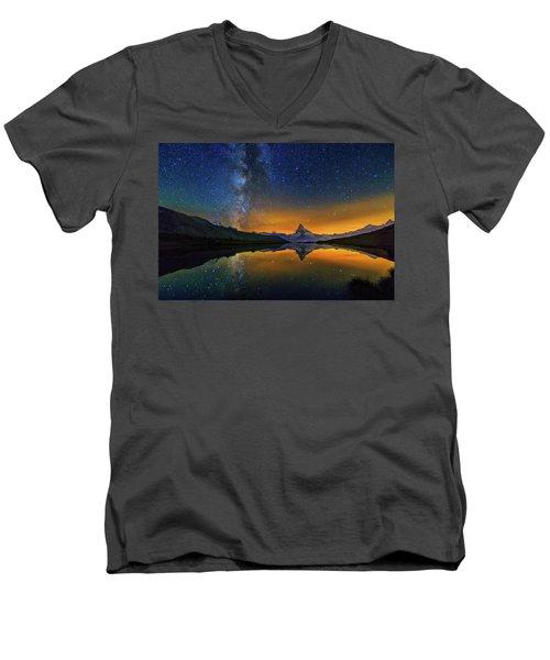 Matterhorn By Night Men's V-Neck T-Shirt