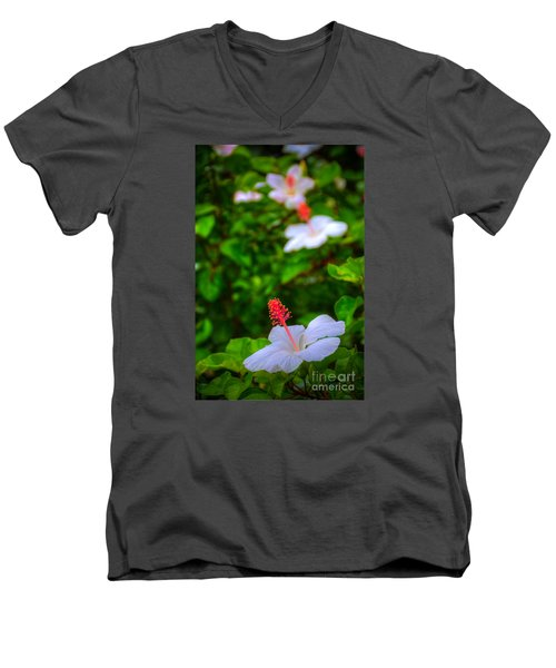 Men's V-Neck T-Shirt featuring the photograph Maui Hibiscus by Kelly Wade