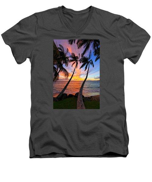 Maui Magic Men's V-Neck T-Shirt by James Roemmling