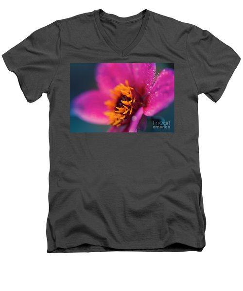Men's V-Neck T-Shirt featuring the photograph Maui Mystic Dreamer Dahlia Jewels by Sharon Mau