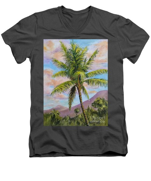 Maui Palm Men's V-Neck T-Shirt by William Reed
