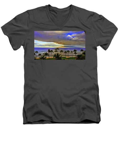 Maui Sunset At Hyatt Residence Club Men's V-Neck T-Shirt