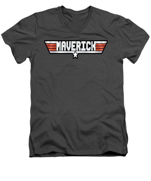 Maverick Callsign Men's V-Neck T-Shirt by Fernando Miranda