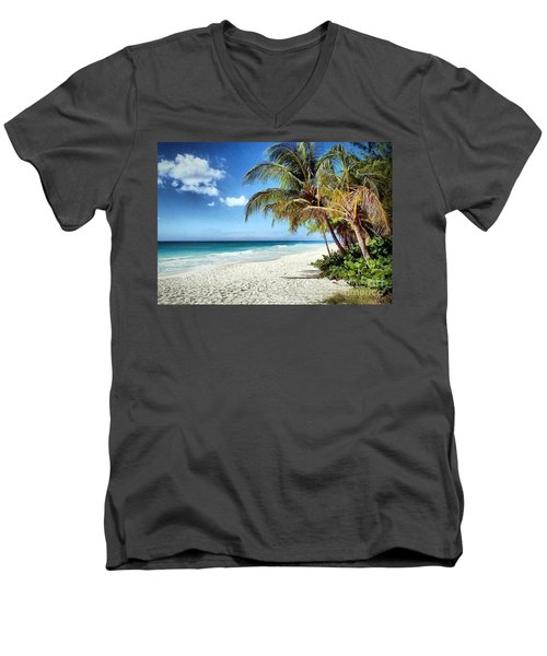 Maxwell Beach Barbados Men's V-Neck T-Shirt