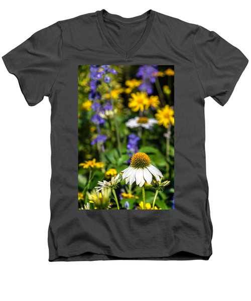 Men's V-Neck T-Shirt featuring the photograph May Flowers by Steven Sparks