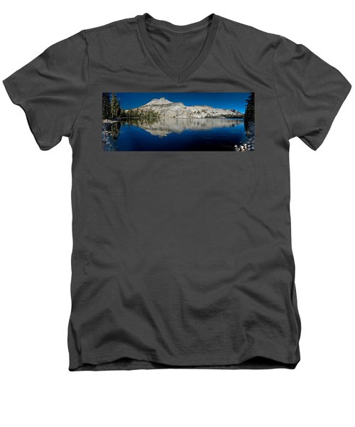 May Lake Panorama Men's V-Neck T-Shirt