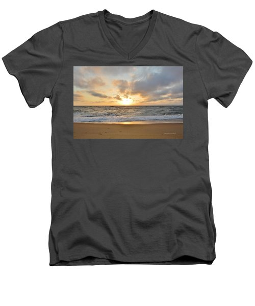 May Sunrise In Obx Men's V-Neck T-Shirt