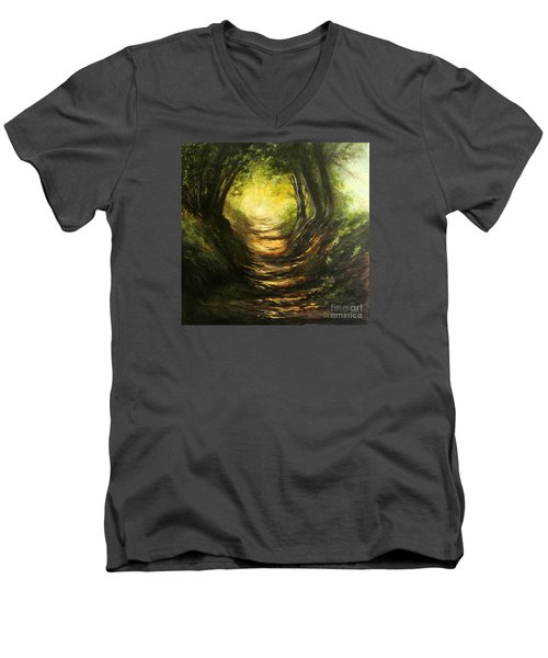 May Your Light Always Shine Men's V-Neck T-Shirt by Valerie Travers