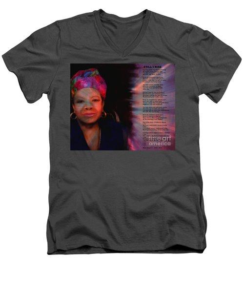 Maya Angelou Men's V-Neck T-Shirt