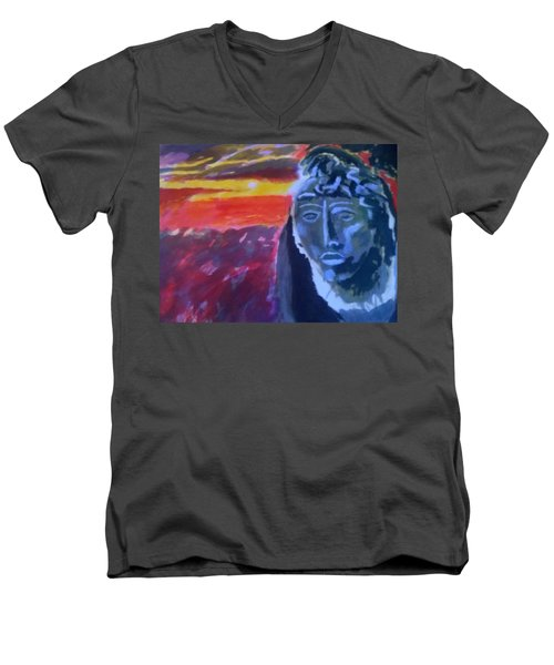 Maya Sunset Men's V-Neck T-Shirt
