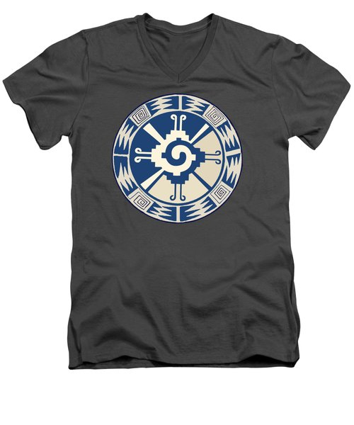 Mayan Hunab Ku Design Men's V-Neck T-Shirt