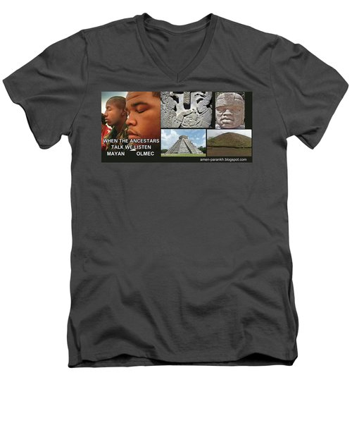 Mayan Olmec Men's V-Neck T-Shirt