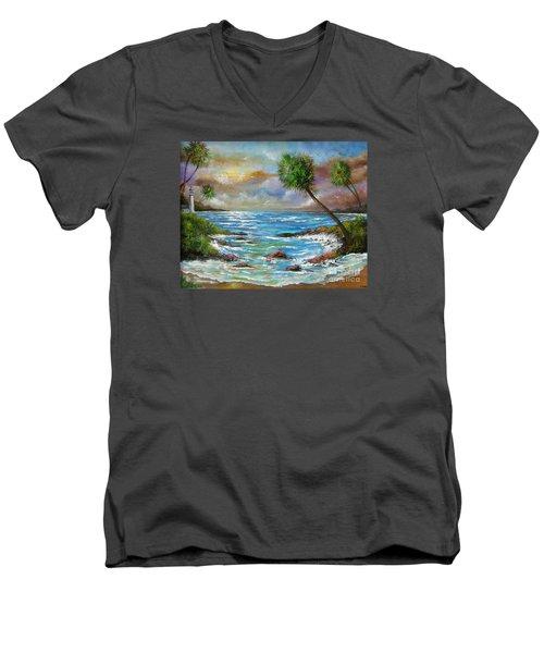 Maybe Tomorrow Men's V-Neck T-Shirt