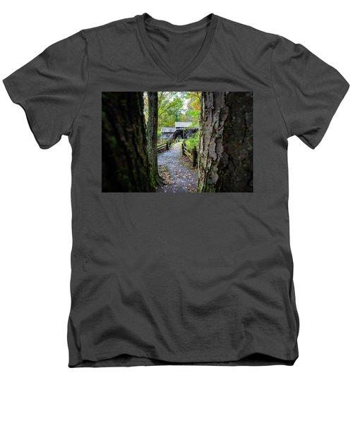 Maybry Mill Through The Trees Men's V-Neck T-Shirt