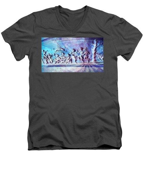 Maypole Dance  Men's V-Neck T-Shirt by Karl Reid