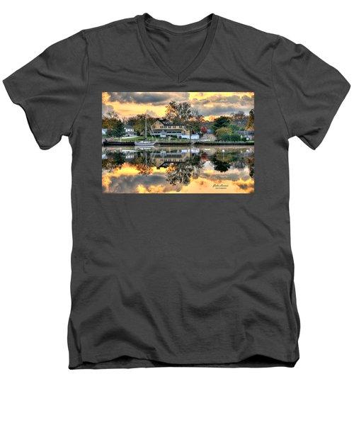 Mays Landing Morning Men's V-Neck T-Shirt