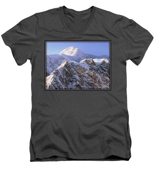 Men's V-Neck T-Shirt featuring the photograph Mc Kinley Peak by James Lanigan Thompson MFA