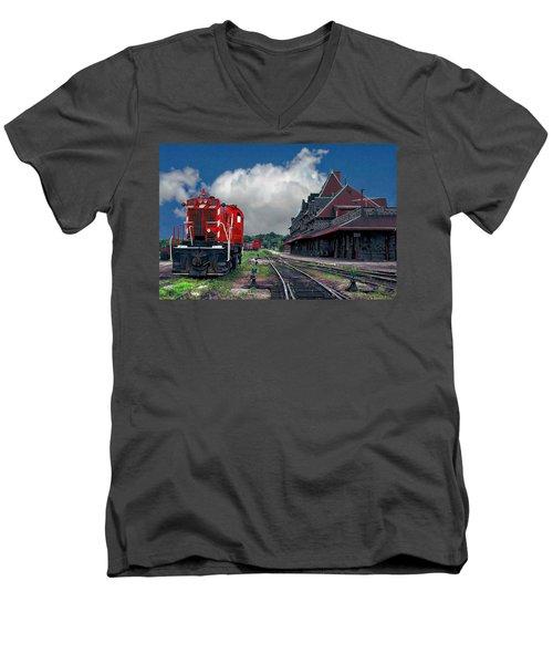 Mcadam Train Station Men's V-Neck T-Shirt