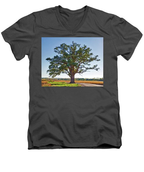 Mcbaine Bur Oak Men's V-Neck T-Shirt