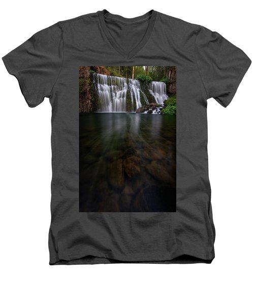 Mccloud Falls Men's V-Neck T-Shirt by Dustin LeFevre