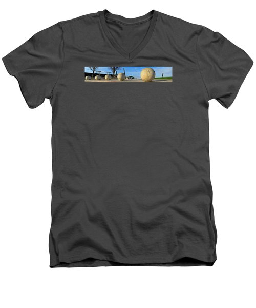 Men's V-Neck T-Shirt featuring the photograph Mccovey Cove by Steve Siri