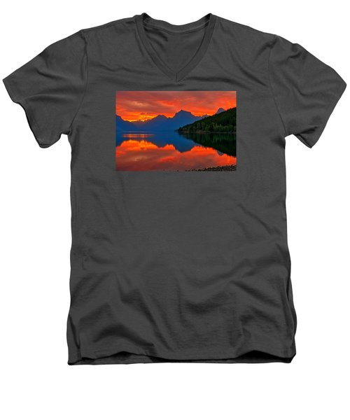 Mcdonald Sunrise Men's V-Neck T-Shirt by Greg Norrell