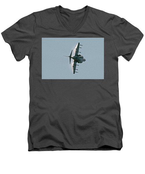 Mcdonnell-douglas Av-8b Harrier Buno 164119 Of Vma-211 Turning Mcas Miramar October 18 2003 Men's V-Neck T-Shirt by Brian Lockett