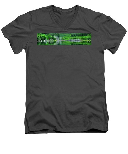 Mcguire Reservoir P Men's V-Neck T-Shirt by Jerry Sodorff