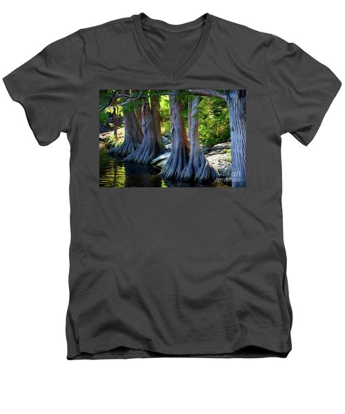 Mckinney Falls State Park - Texas 12118-2 Men's V-Neck T-Shirt