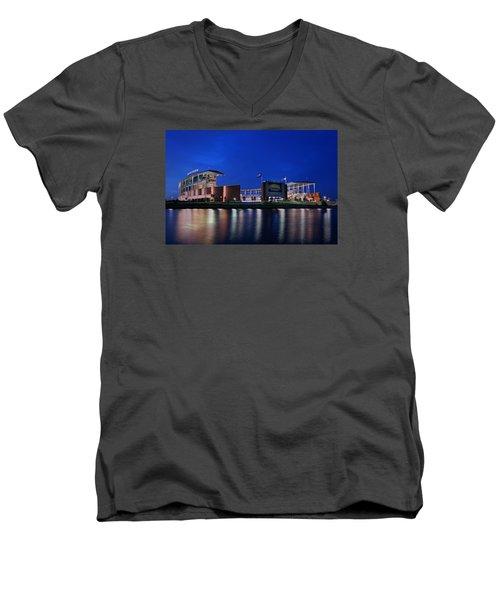 Mclane Stadium Evening Men's V-Neck T-Shirt
