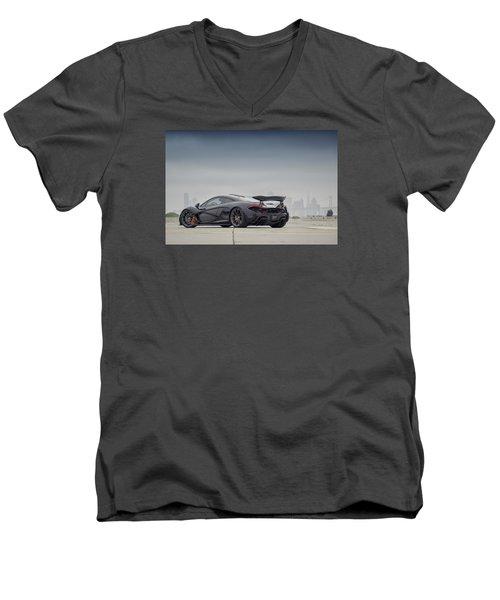 #mclaren Mso #p1 Men's V-Neck T-Shirt