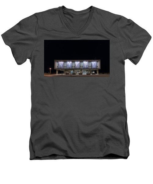 Men's V-Neck T-Shirt featuring the photograph Mcmxliviii by Randy Scherkenbach